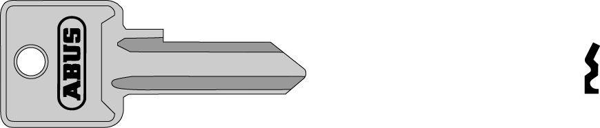 ABUS 02700 R polotovar klíče pro 85/20 a 85/25 pravý