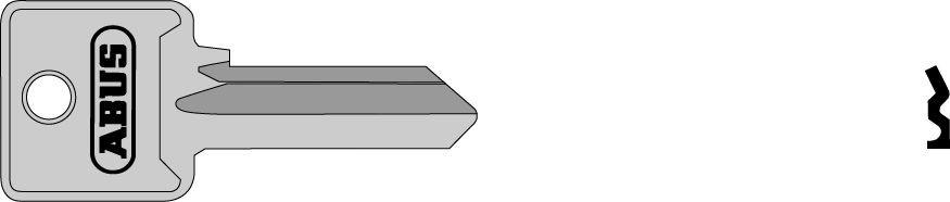 ABUS 02694 L polotovar klíče pro 85/20 a 85/25 levý