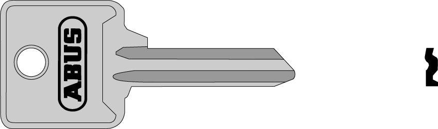 ABUS 02702 polotovar klíče pro 85/40 pravý