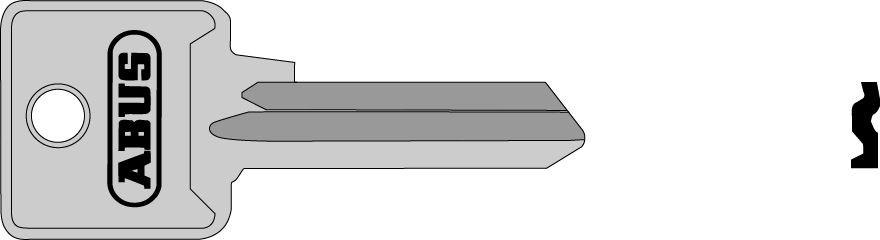 ABUS 02696 polotovar klíče pro 85/40 levý