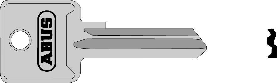 ABUS 02697 polotovar klíče pro 85/50 levý, 85/60 levý