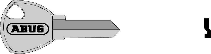 ABUS 02688 polotovar klíče pro 65/30, 65/35