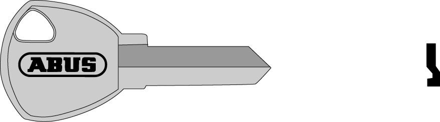 ABUS 02689 polotovar klíče pro 65/40, 65/45