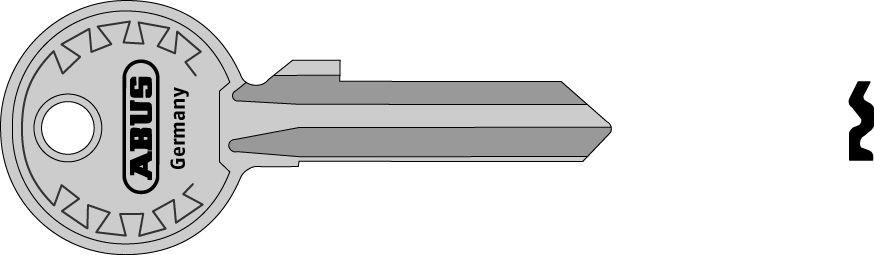 ABUS 00906 polotovar klíče pro 82/63, 82/70, 92/65