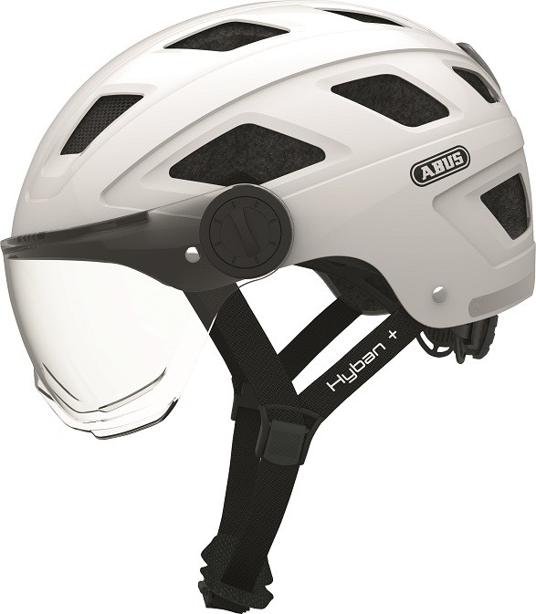Hyban+ cream white (clear visor) - Hyban  cream white (clear visor) L